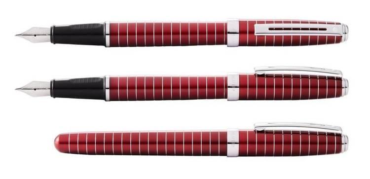 9165 PN Pióro wieczne Sheaffer Prelude, czerwone, wykończenia chromowane