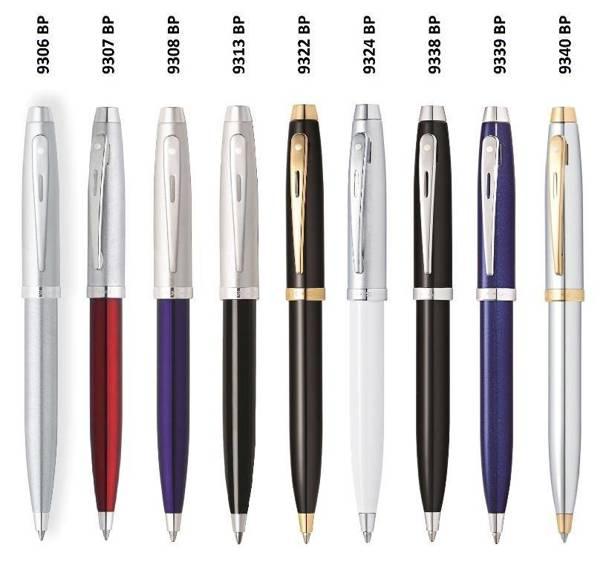 9322 BP Długopis Sheaffer kolekcja 100, czarny, wykończenia w kolorze złotym