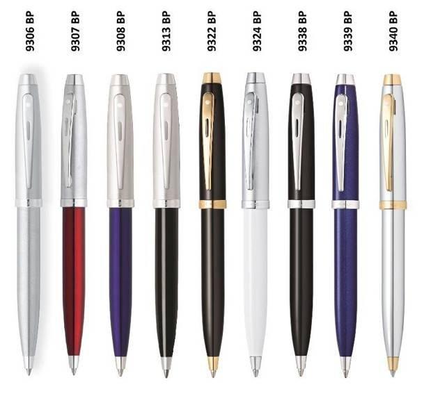 9340 BP Długopis Sheaffer kolekcja 100, chrom, wykończenia w kolorze złotym