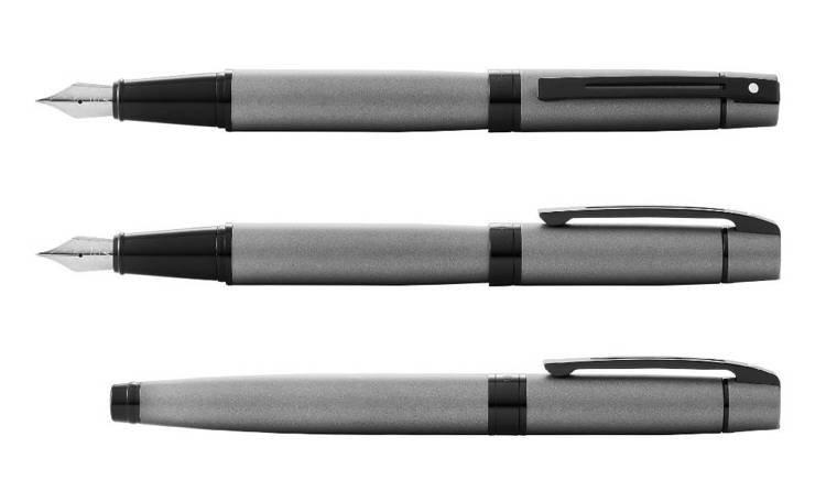 9345 Pióro wieczne Sheaffer kolekcja 300, szare, wykończenia czarne