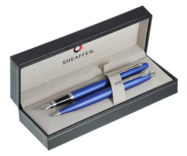 9401 Zestaw (pióro wieczne i długopis) Sheaffer VFM, niebieski, wykończenia niklowane