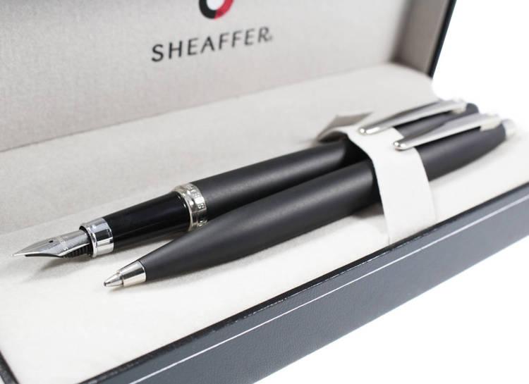 9405 Zestaw (pióro wieczne i długopis) Sheaffer VFM, czarny, wykończenia niklowane