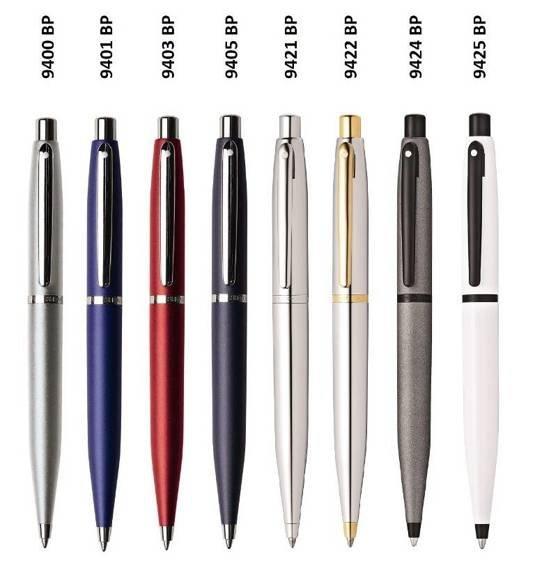 9425 BP Długopis Sheaffer VFM, białe, wykończenia w kolorze czarnym