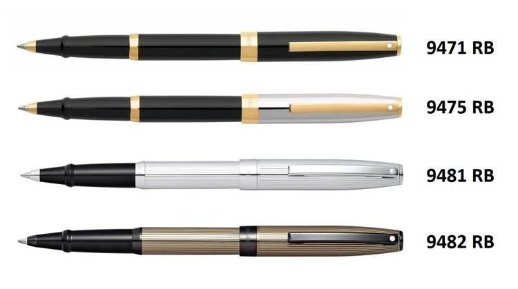 9471 RB Pióro kulkowe Sheaffer kolekcja Sagaris, czarne, wykończenia w kolorze złotym