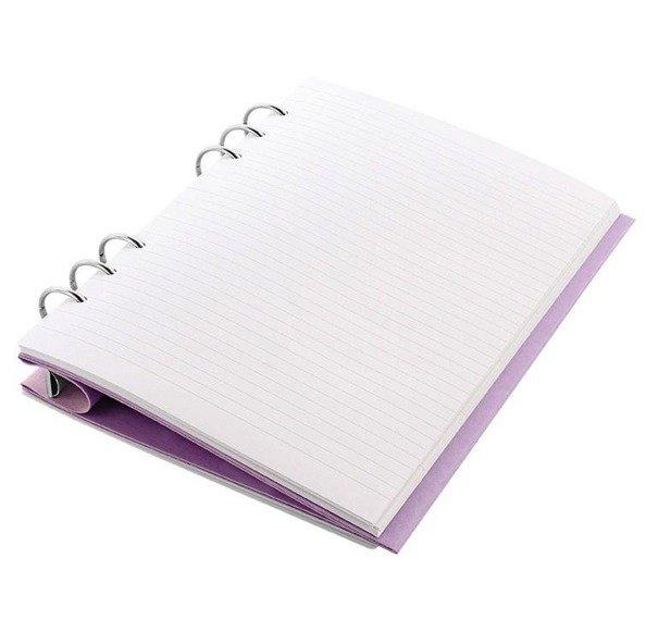 Clipbook fILOFAX CLASSIC A5, notatnik i terminarze bez dat, okładka w kolorze pastelowym liliowym