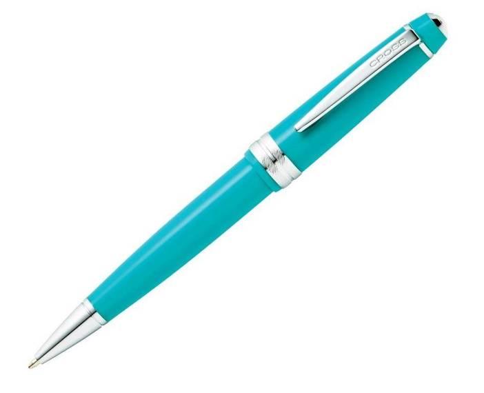 Długopis Cross Bailey Light błękitny, elementy chromowane