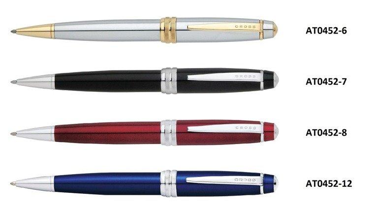 Długopis Cross Bailey chromowany, elementy pokryte 23k złotem
