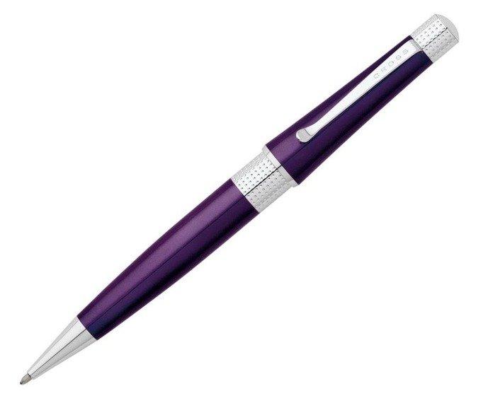 Długopis Cross Beverly fioletowy, elementy chromowane