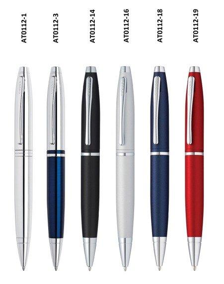 Długopis Cross Calais niebiesko-srebrny korpus, elementy chromowane