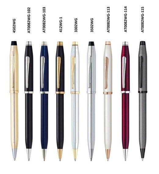 Długopis Cross Century II śliwkowy, elementy platerowane rodem