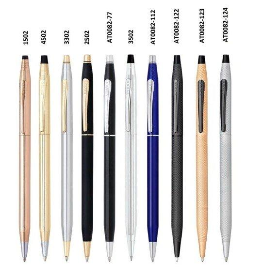 Długopis Cross Classic Century różowe złoto, elementy czarne