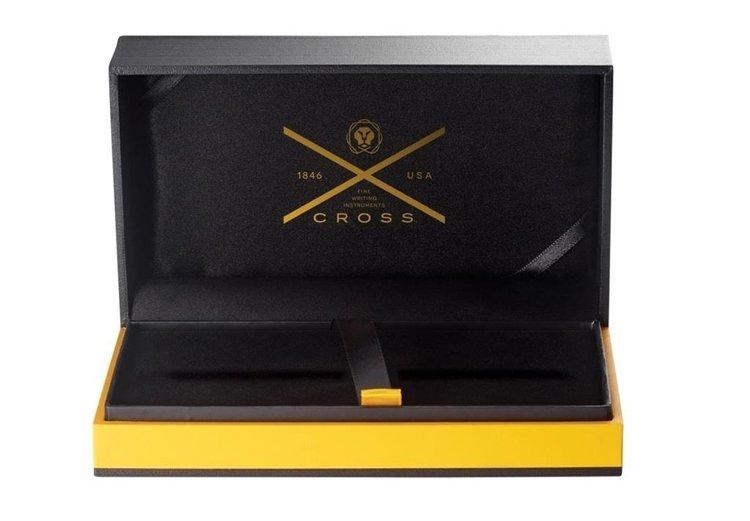 Długopis Cross Townsend chromowany, elementy pokryte 23k złotem