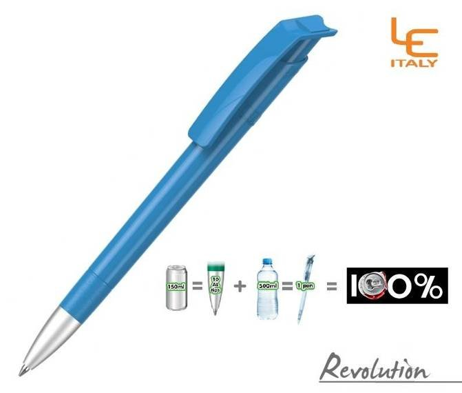 Długopis LE ITALY Revolution solid ALrPET niebieski