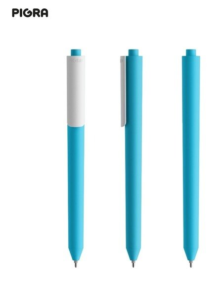 Długopis PIGRA P03, jasnoniebieski z białym klipsem