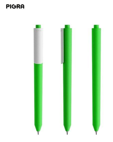 Długopis PIGRA P03, zielony z białym klipsem