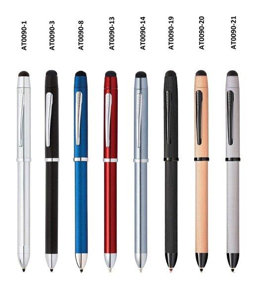 Długopis, ołówek i stylus Cross Tech3+ czarny, elementy chromowany