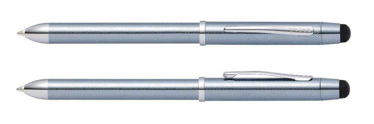 Długopis, ołówek i stylus Cross Tech3+ mrożona stal, elementy chromowany