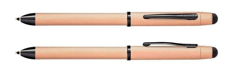 Długopis, ołówek i stylus Cross Tech3+ w kolorze różowego złota, elementy czarne