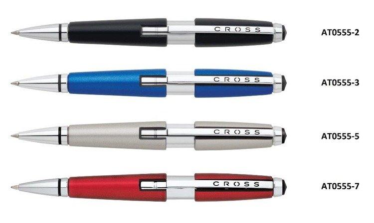 Długopis żelowy Cross Edge w kolorze tytanowym, elementy chromowane