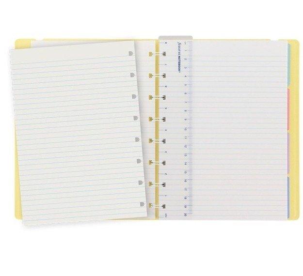 Notebook fILOFAX CLASSIC Pastels A5 blok w linie, pastolowy żółty