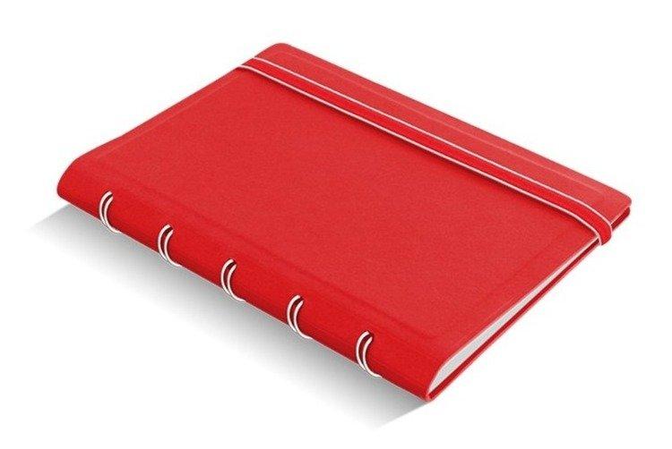 Notebook fILOFAX CLASSIC kieszonkowy, blok w linie, czerwony