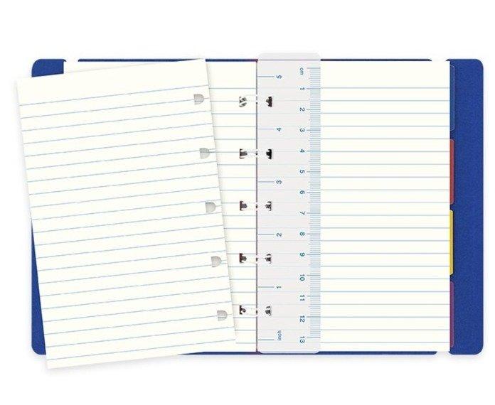 Notebook fILOFAX CLASSIC kieszonkowy, blok w linie, niebieski