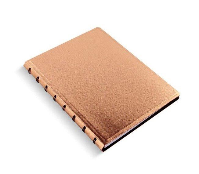 Notebook fILOFAX SAFFIANO A5 blok w linie, różowe złoto