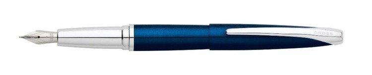 Pióro wieczne Cross ATX niebieskie, elementy chromowane