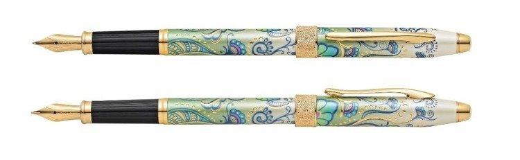 Pióro wieczne Cross Botanica Green Daylily, motyw zielony, elementy pokryte 23k złotem