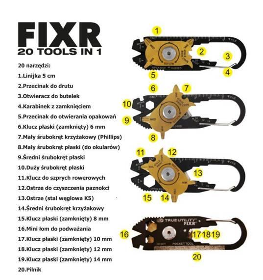 TU200 True Utility Zestaw FixR, 20w1