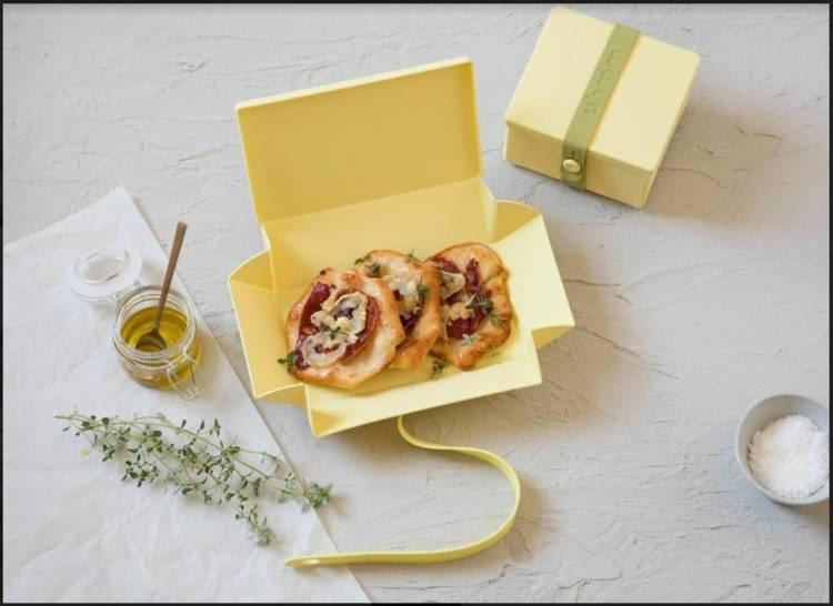 Uhmm Box 01 prostokątne pudełko na żywność, czarne