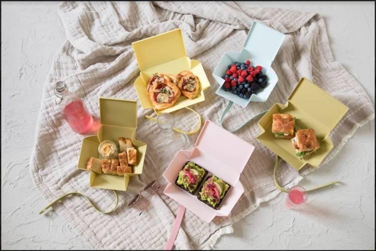 Uhmm Box 02 pudełko na żywność, oliwkowe